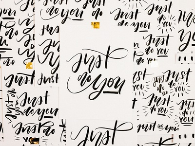 Just do you. brush lettering hand lettering