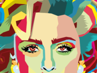 Madonna wpap poster