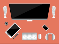 flat design Workstation