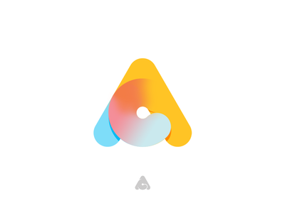 AC a gradient symbol lettermark identity lineart logo design logo colorful acronym infinite monoline