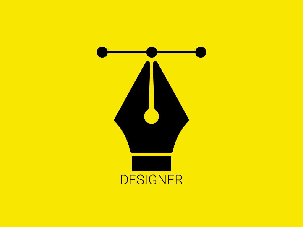 Designer Tool poster art iconography designer pen tool vector illustration illustrations icon design illustrator