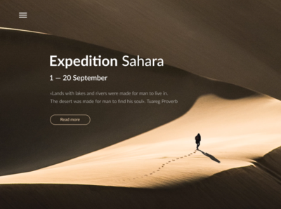 Banner for travel expedition to Sahara