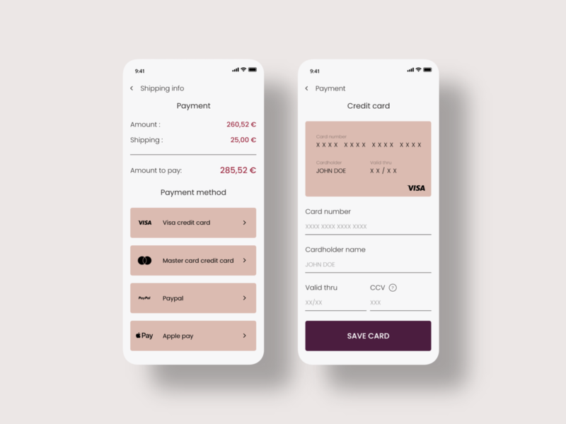 Daily UI Challenge - Credit Card Checkout