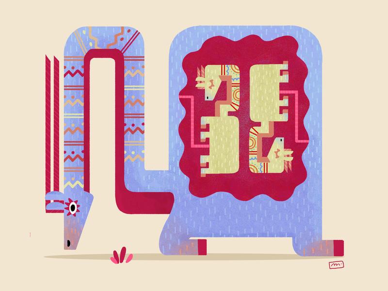Pregnant of twins ! digital pregnant creature alebrije digital drawing character digital illustration illustration drawing