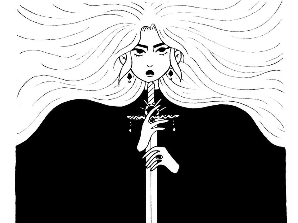 Inktober 2018 fight sword illustration art character illustration drawing