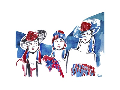 Fashion illustration - Armani SS19