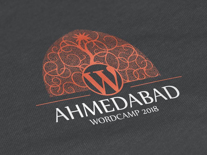 Ahmedabad WordCamp 2018 – Branding wordpress wordcamp wpahmedabad wcahmedabad brand identity branding logo