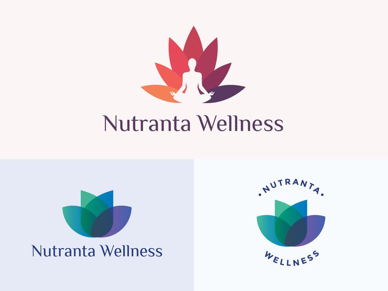 Health and Wellness Logo unused wellness center gym fitness yoga lotus wellness branding logo medicine health