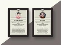 Speaker Card Design for WordCamp Miami