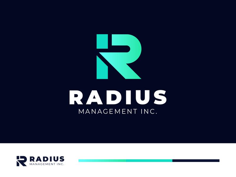 Radius Unused R Letter Logo company agency r logo logo branding monogram logo brand identity branding