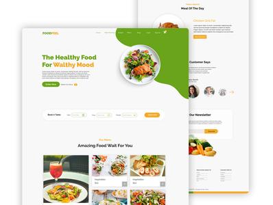 Restaurant/Food Website Landing Page UI Design