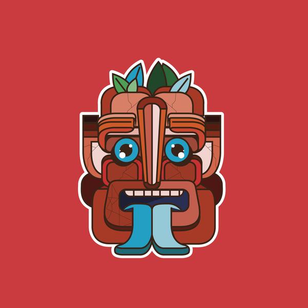 Mask Red rojo mask vector diseño ilustración