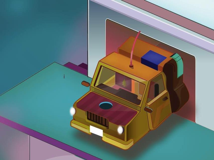 Car isometrica futurismo futuro color car ilustración