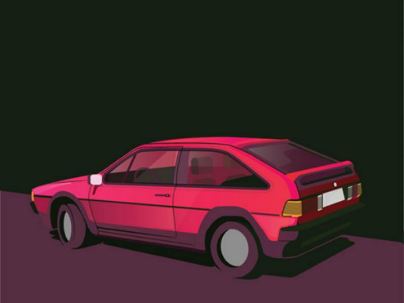 VW 1991 vw car color vector