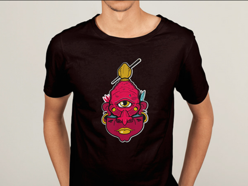 Camisetas camisetas tiki vector mask