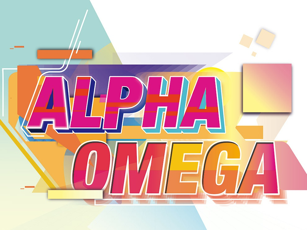 Alpha tipografía diseño color ilustración