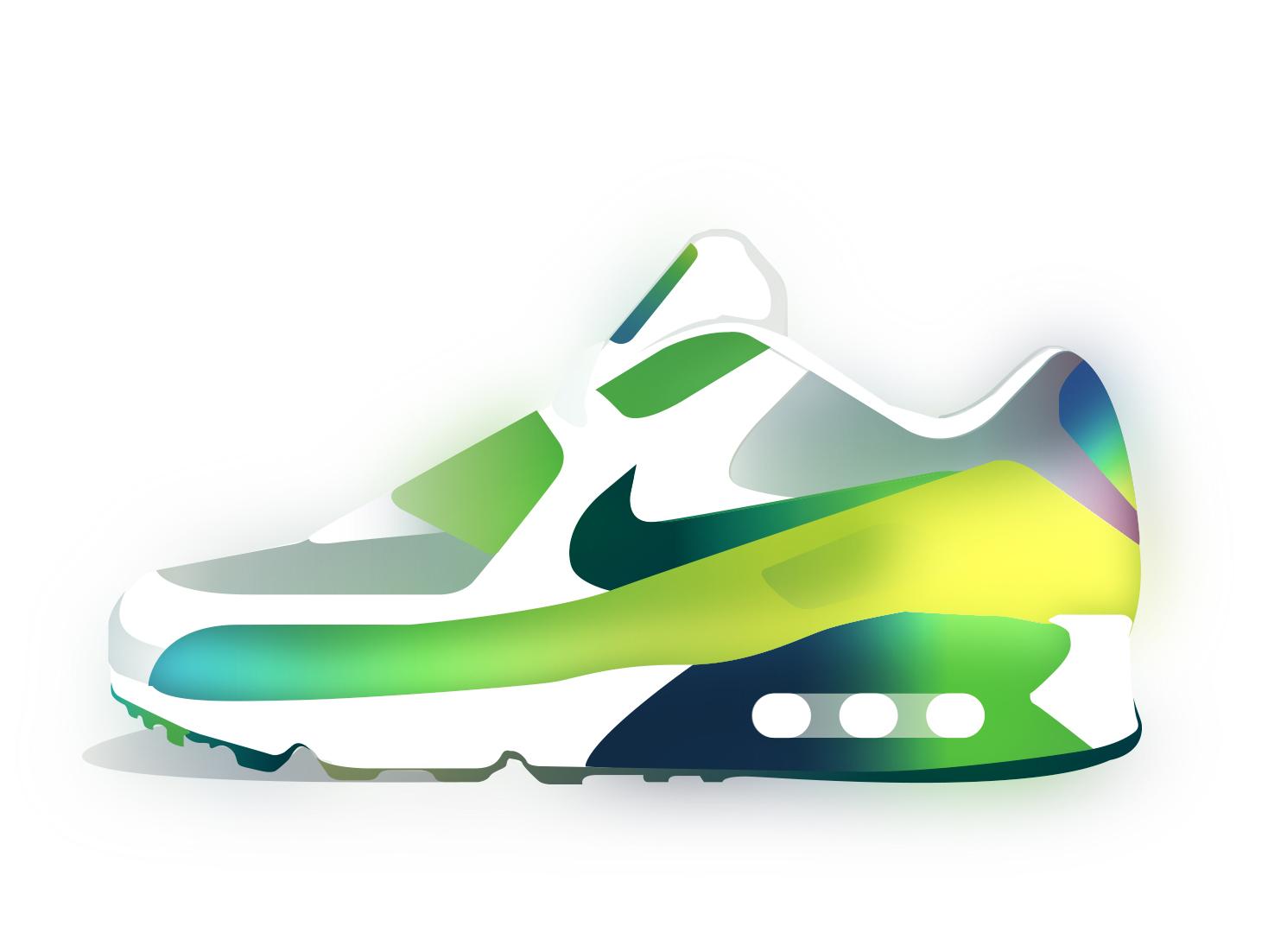Airmax shoes vector color ilustración airmax nike