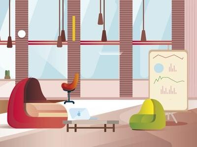 Oficina diseño vector ilustración