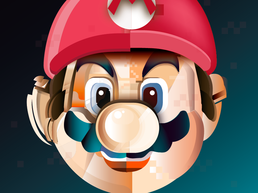 Super Mario illustrator adobeillustator supermario game color vector ilustración