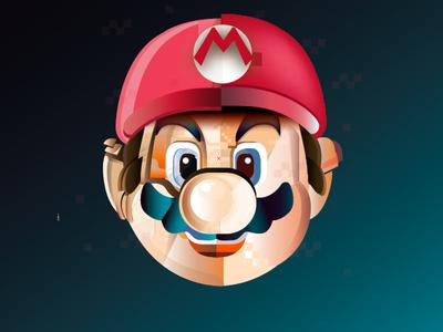 Super Mario gamer supermario ilustración adobeillustator vector