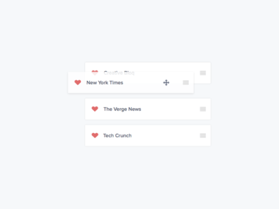 16/30 - Favourites heart drag drop reorder favourite ui daily