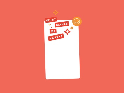 What makes me happy :) graphic design note motivational positive sticker smiley happy