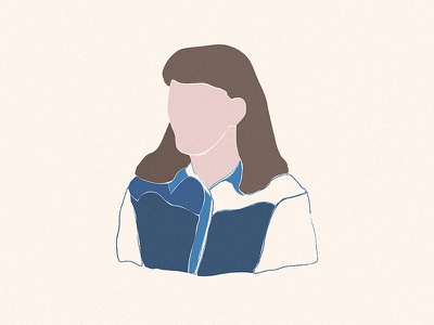 craftedbyhim portrait drawing profile avatar me craftedbyhim minimal organic shapes abstract collage illustration design