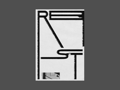 Rest diffuse black minimal rest layout type design christian typography poster