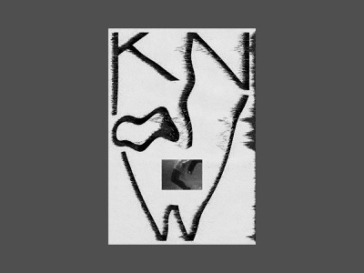 Know black and white rest be still sink distort poster type typography layout christian design