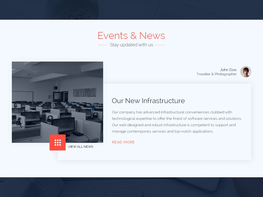 Events & News Section by Ketan Darji on Dribbble
