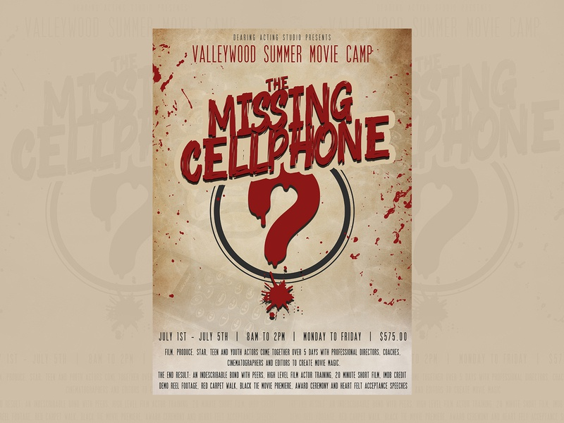 The Missing Cellphone movie poster movie art cover design poster design poster art poster illustrator typography vector illustration design art