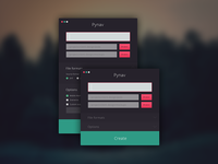 Pynav forms script html flat colors python photoshop psd png command ui terminal