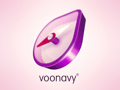 Voonavy logo logo 3d photoshop illustrator violet purpurin purple