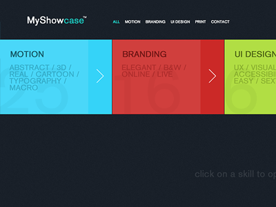 Showcase Theme portfolio showcase web clean colors