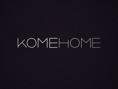 KOMEHOME Logo logo mark branding home text elegant clean thin