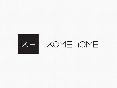 KOMEHOME Logo logo clean branding elegant home mark text thin