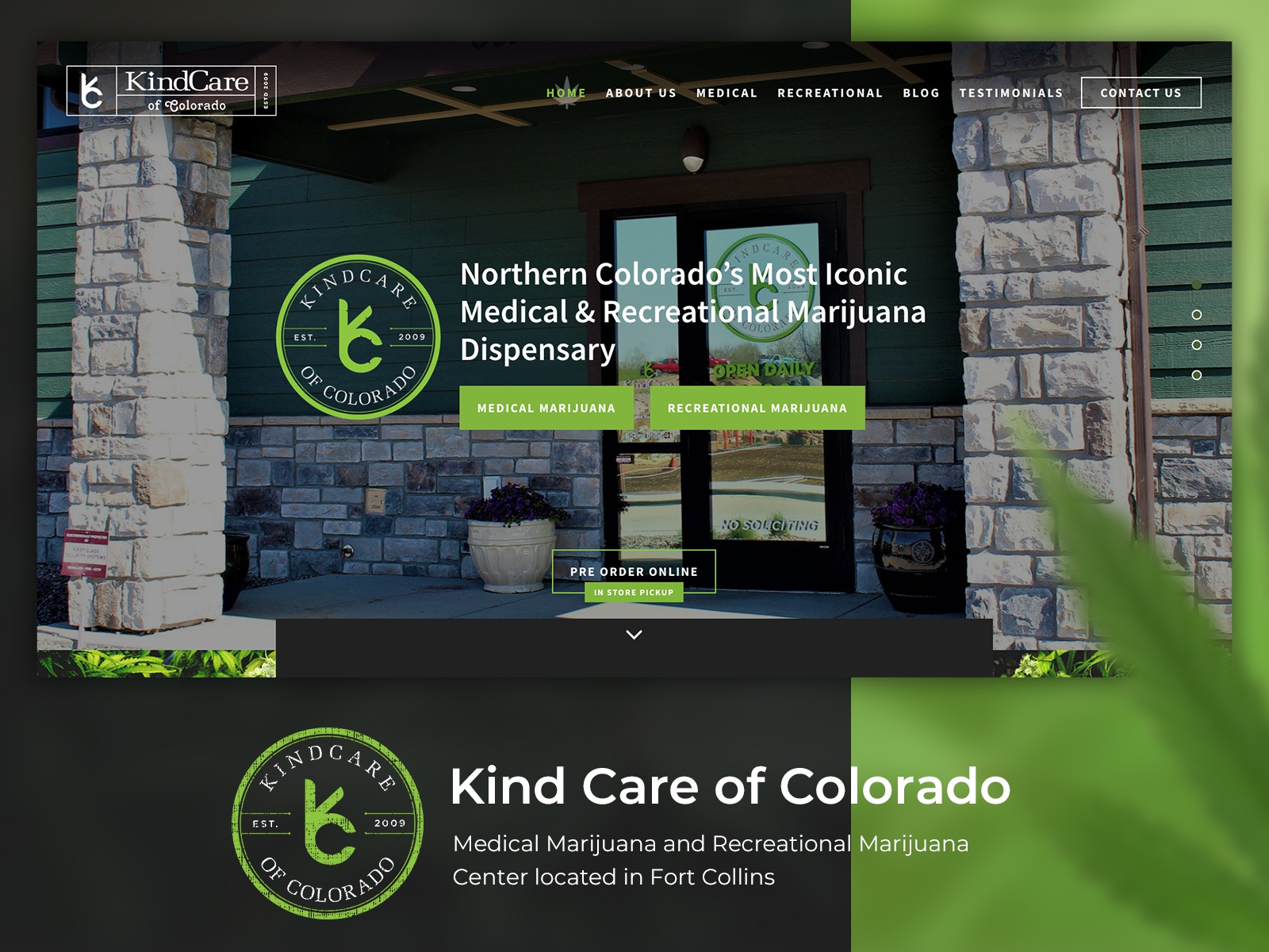 Medical Marijuana Dispensary Website Design | Search by Muzli