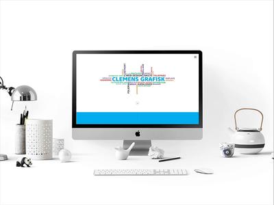 Single Page Website Design for Denmark Printing Agency single page website parallax website flat design gif animation webdesign ux ui typography pattern logo landing illustration
