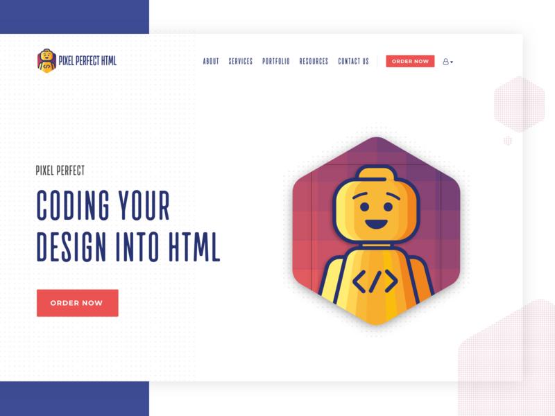 Pixel Perfect HTML Hero section exploration rebranding pixel html pixel perfect hero hero banner ui website design rebrand