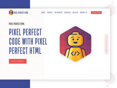 Pixel Perfect HTML Website Design Concept
