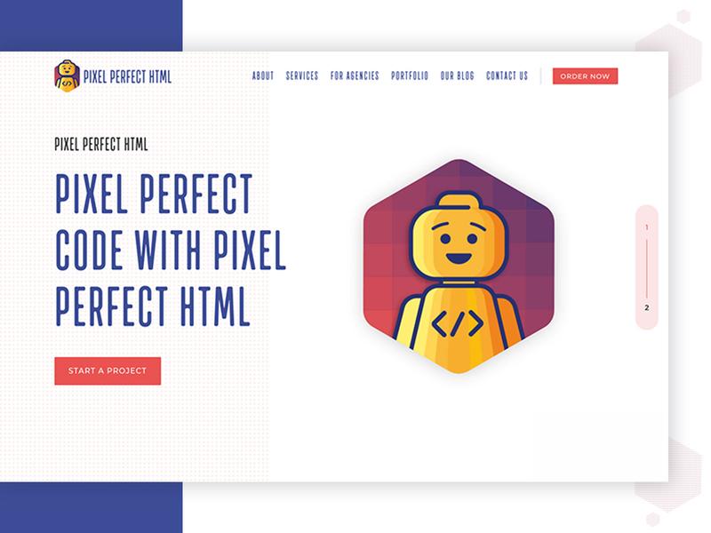 Pixel Perfect HTML Website Design Concept website website design innerpages layout interface design concept brand landing page clean theme landing ux ui