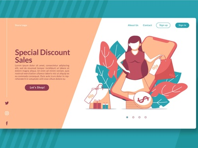 (FREE) Special Discount Sales - Landing Page freebie free shopping market shop corporate vector ui illustration business website template design web