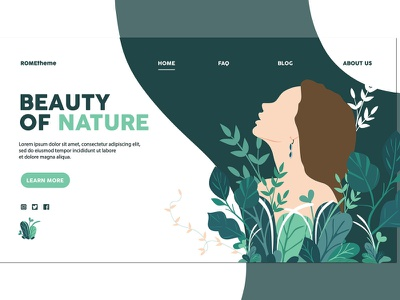 Beauty of Nature - Landing Page AS illustration page landing web design services promotion header nature beauty