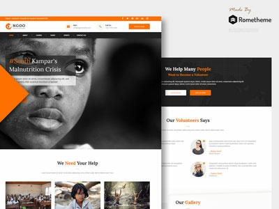 NGOO - Charity, Non-profit, and Fundraising HTML Template psd design campaign cause share project organisation volunteer template web nonprofit fundraising charity ngo bootstrap html