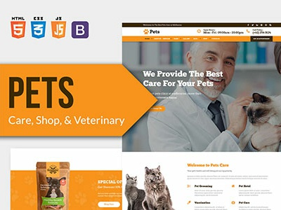 PETS - Pet Care, Shop, and Veterinary HTML Template