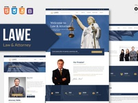 LAWE - Lawyer and Attorney HTML Template