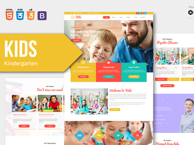 KIDS - Kindergarten and Child Care HTML Template