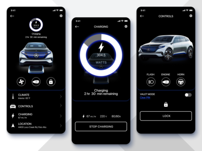 Daily UI Challenge #34 Car Interface