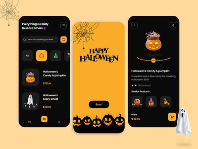 Halloween Store darkui dark halloween party uidesign uiux ui design app halloween design ui halloween