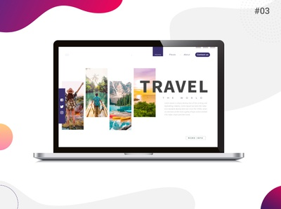 Landing Page for Travel branding minimal vector flat icon illustration design ux dailyuichallenge daily 100 challenge dailyui ui